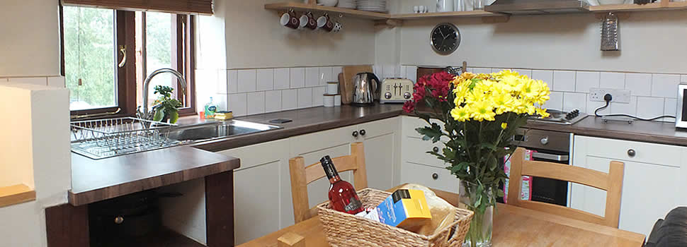 Our self catering holiday cottages have well equipped kitchens and facilities