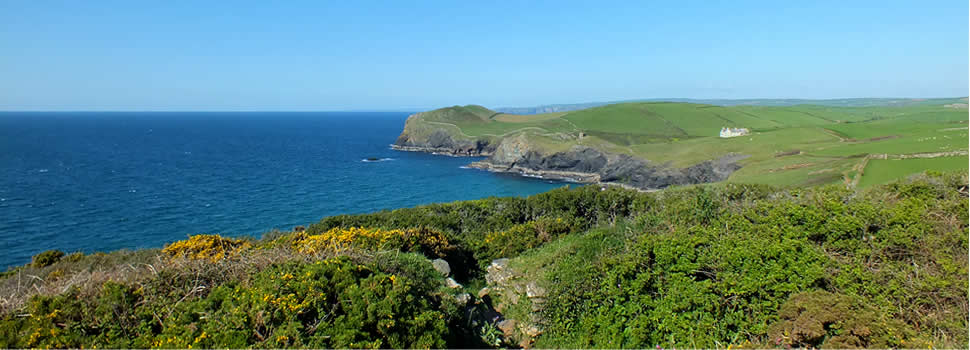 The north coast path meanders for miles through stunning coastal scenery