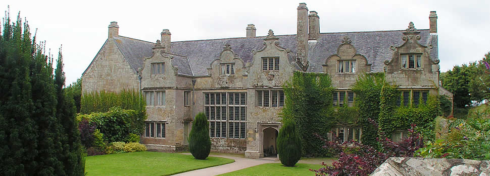 Trerice House near Newquay in Cornwall
