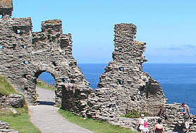 The legendary Tintagel Castle